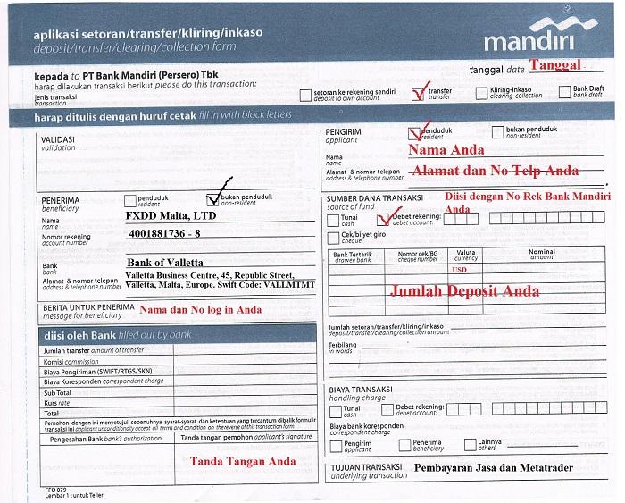 Deposit indonesia